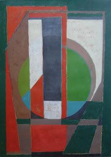 Cuadro abstracto hecho con pintura acrílica. Composiciones geométricas por ImaPerezAlbert