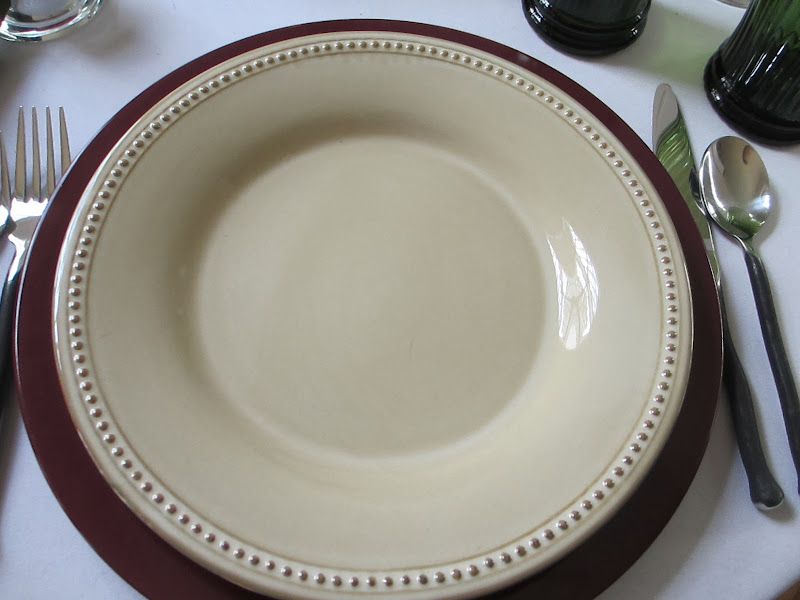 The dinner plate is also from Pier 1. title=