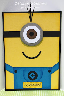 minions with two eyes or just one eye when ordering these invitations