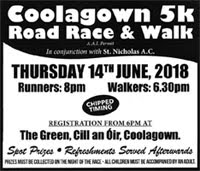 5k nr Fermoy in Cork...Thurs 14th June 2018