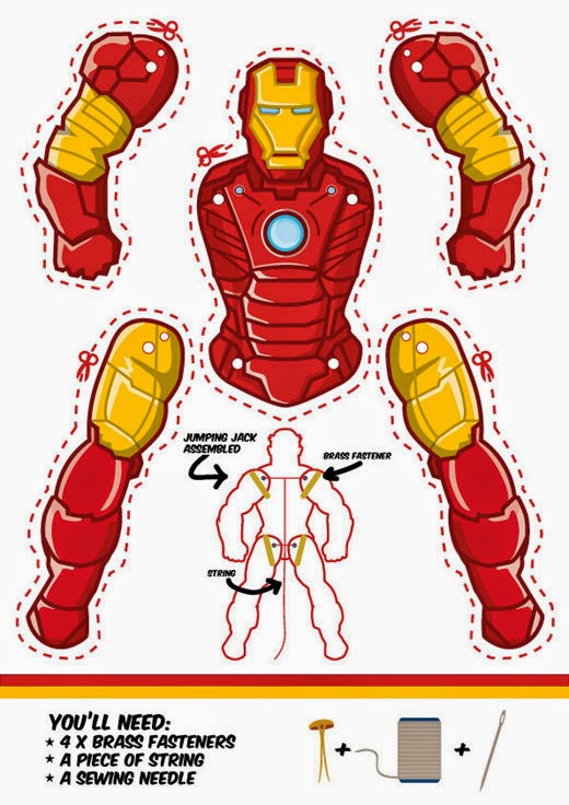 Iron Man Movible Para Imprimir Gratis Oh My Manualidades