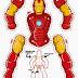 Iron Man Movible para Imprimir Gratis.
