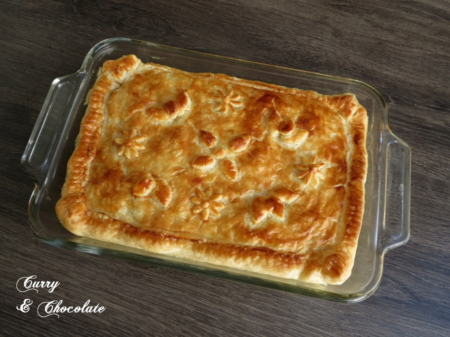 Leek and mushroom pie