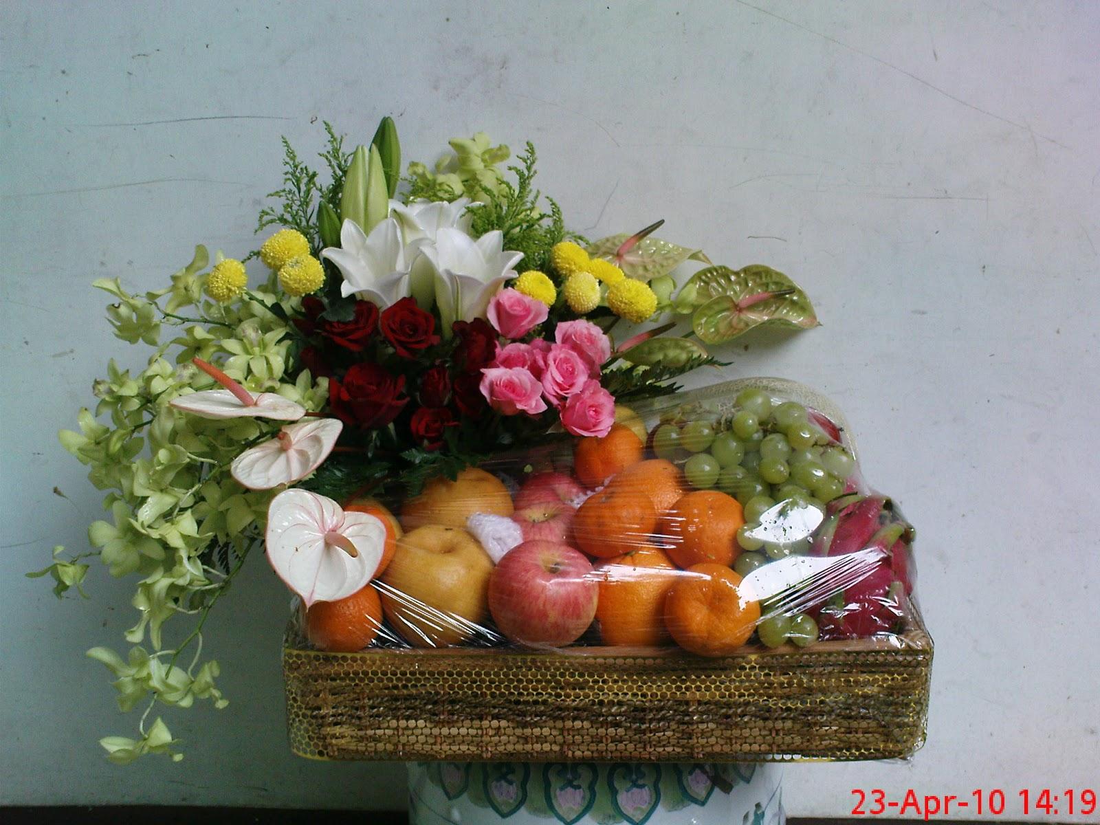 Parcel Dengan Hiasan Bunga