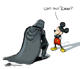 La Disney acquista la Lucasfilm -Darth Vader/Dart Fener & Mickey Mouse/Topolino)