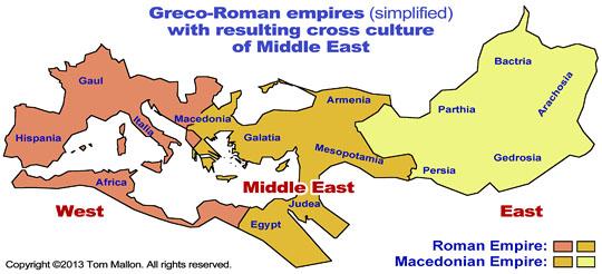 Greco-Roman Empires - Map by Tom Mallon