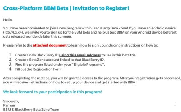 how you can download BBM Beta on your Android phone, let me quickly walk you through the procedure to get your BBM Beta invitation and download link.