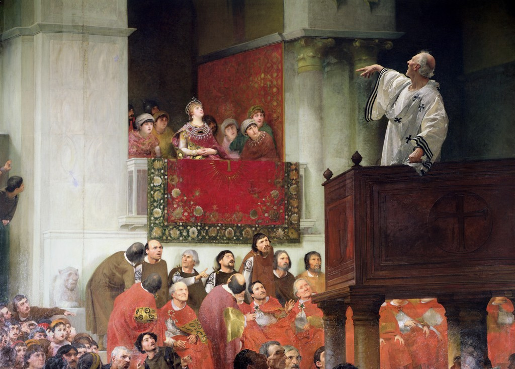 St. John Chrystostomos Preaching