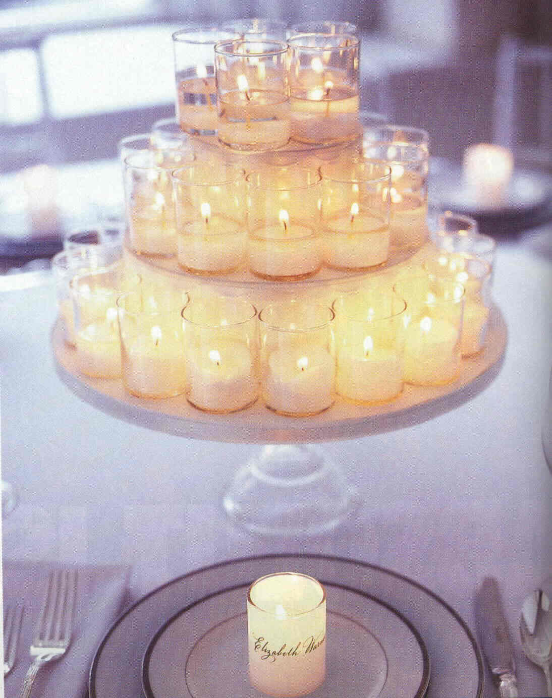 Love blooms wedding event design candle centerpieces