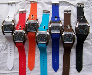 Jam tangan Speedometer LED Flash, Rp.185.000, Kode J160