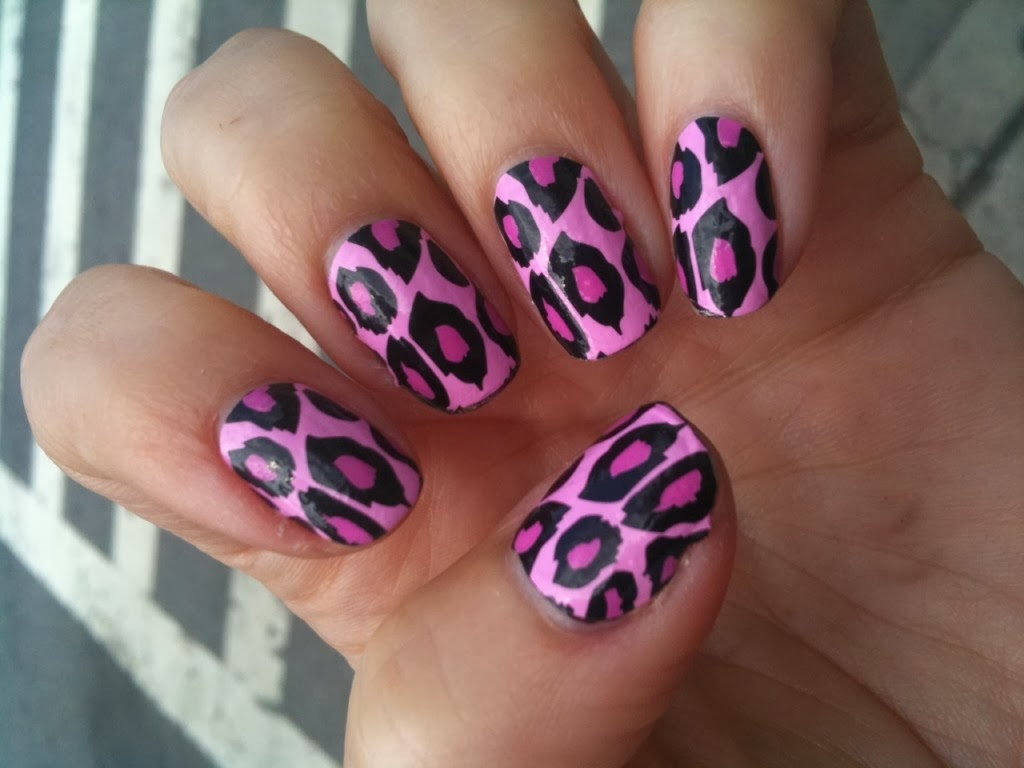 Cheetah print nail designs