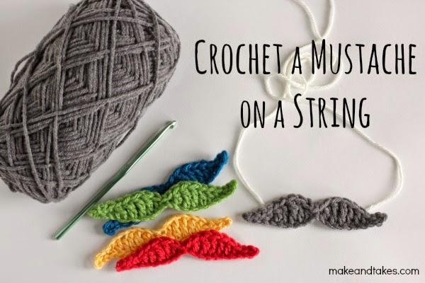 free crochet mustache pattern