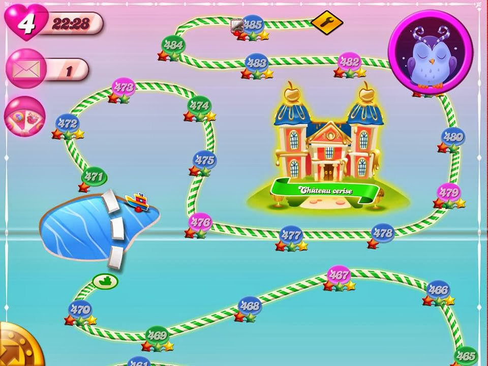 Level 485 Candy Crush Saga's Last Level