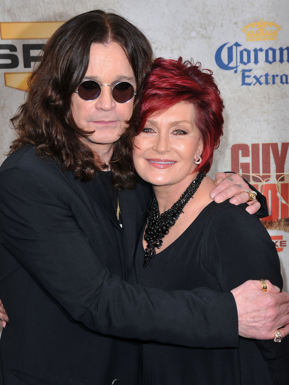 Sharon Osbourne with Husband