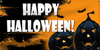 Happy Halloween Vinyl Banners | Banners.com