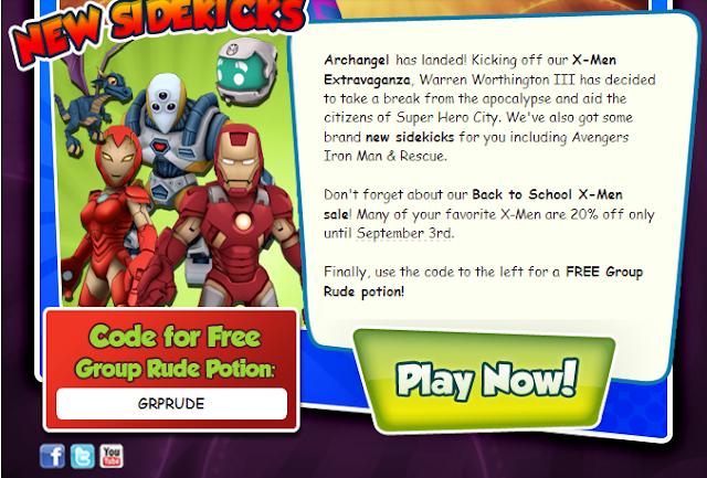 Super Hero Squad Online Codes