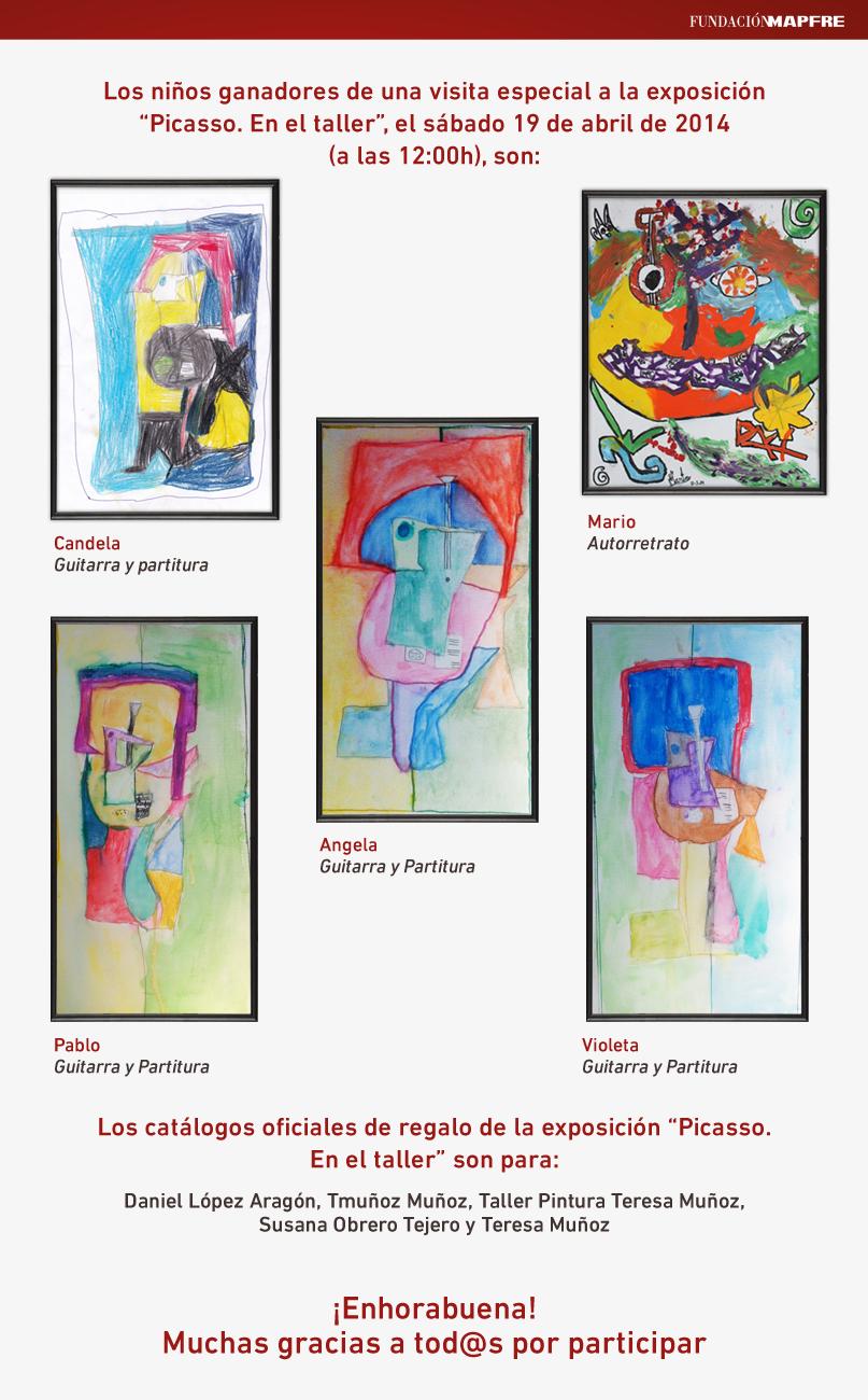 Taller de arte para niños, Clases de pintura para niños, Profesor de pintura, Visita privada a museos, Fundación Mapfre, Voa-Gallery, Blogs de Arte, Yvonne Brochard, Pablo Picasso, Picasso en el taller, Exposiciones en Madrid,