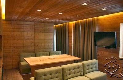 Desain plafon kayu modern dan klasik