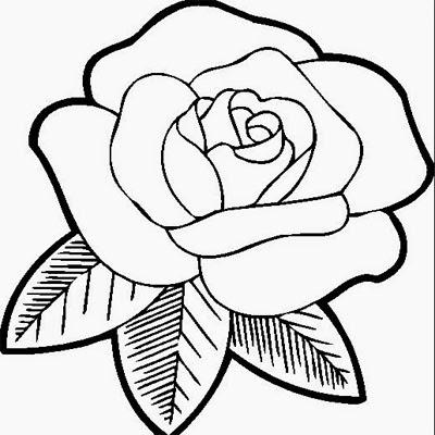 Gambar Bunga Mawar Kartun Hitam Putih Gambar Bunga Mawar