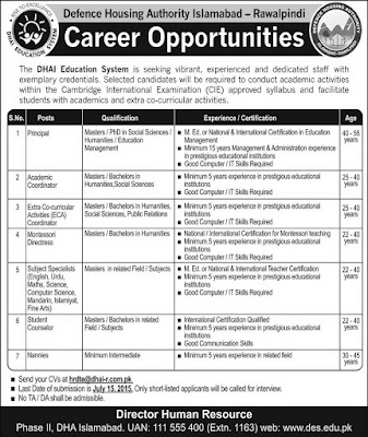 New-jobs-SS-Teaching-DHA-Islamabad