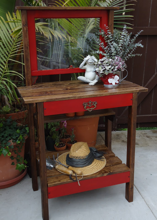 1920s Window Table with Vintage Hardware - SOLD