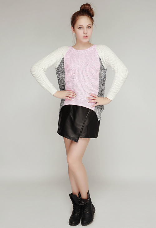 Candy Block Knit Sweater