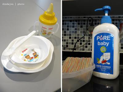 Cuci Pelastik Peralatan Makan Anak Tanpa Repot