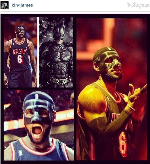 custom black mask of Lebron James