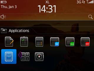 Langkah 1b Cara Install Tema BlackBerry Langsung Melalui BB