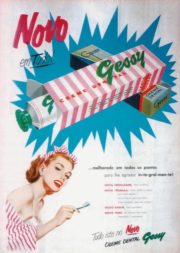 Propaganda do Creme Dental Gessy nos anos 30.
