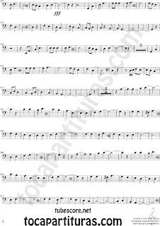 2 Partituras  de Vino Griego en Clave de Fa en Cuarta línea. Partitura de Trombón, Chelo, Fagot, Tuba Elicón, Bombardino... Sheet Music for Trombone, Cello, Bassoon, Tube, Euphonium in Bass Clef F Music Scores