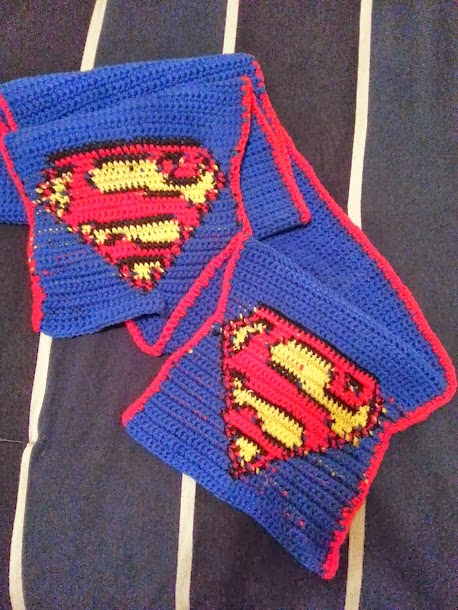 Knitting Pattern Batman Scarf : Crochet from J: Superman Scarf Pattern