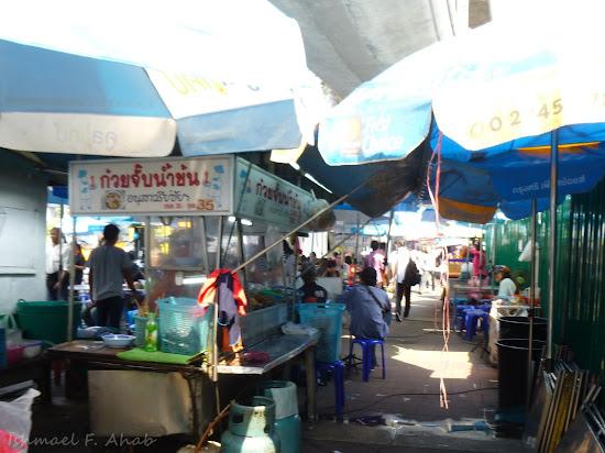 Food stall at Victory Monument Bangkok