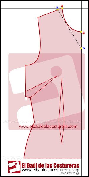 Blusa top escote cortina mujer con bajo en guipur -