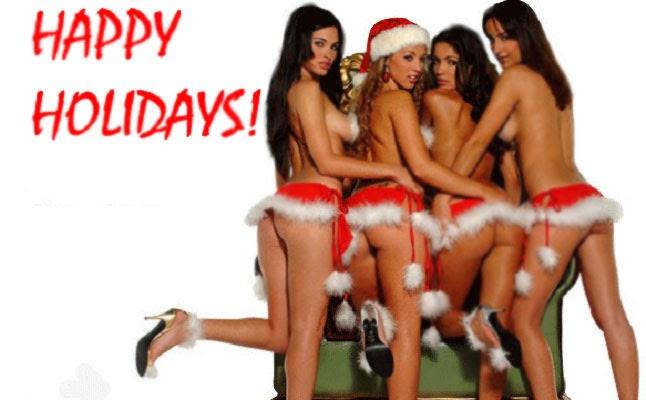 Happy holiday girls naked
