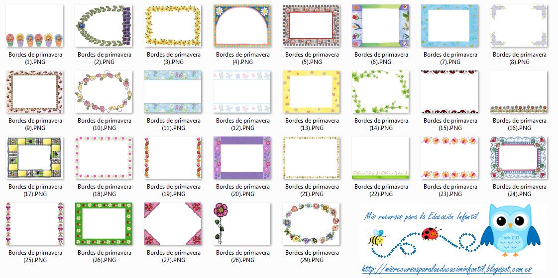 Play & Learn: Bordes/Marcos de Primavera