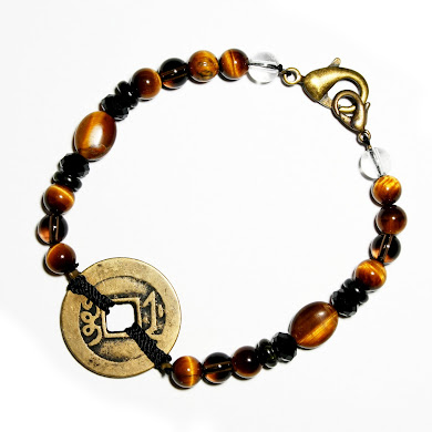 Gold Tiger Eye with Coin