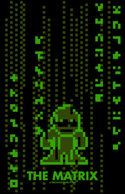Pôsteres de filmes em versão 8-bit