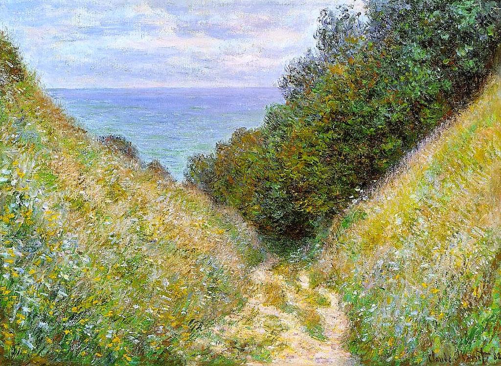 Chemin de La Cavée, Pourville (1882)
