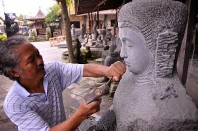 Pemahat Batu Patung Muntilan Magelang