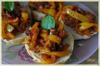 bruschette ai peperoni