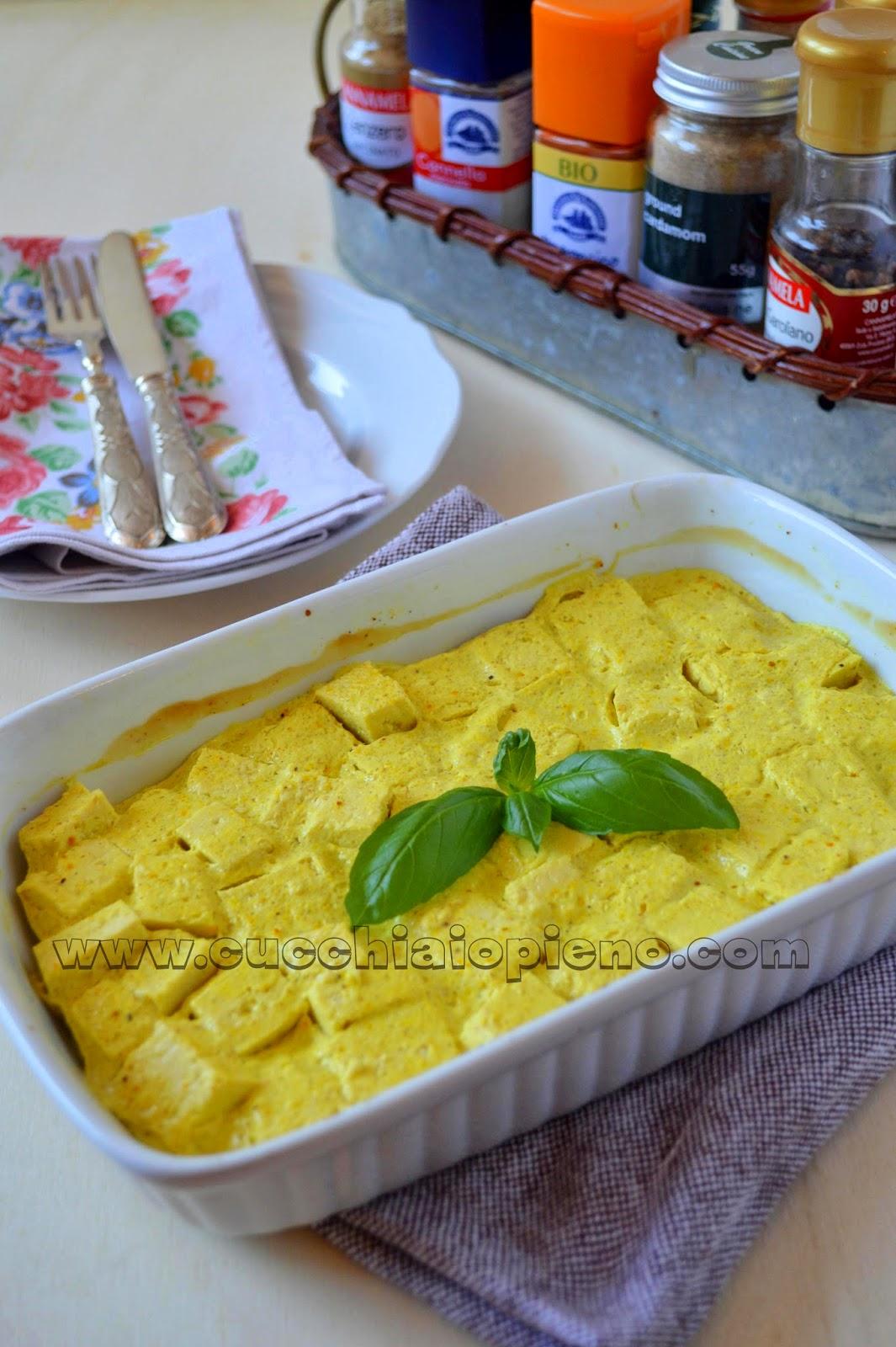 Tofu com molho indiano