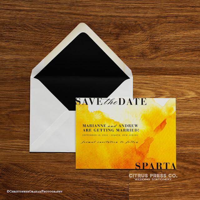 watercolor, envelope, liner, yellow