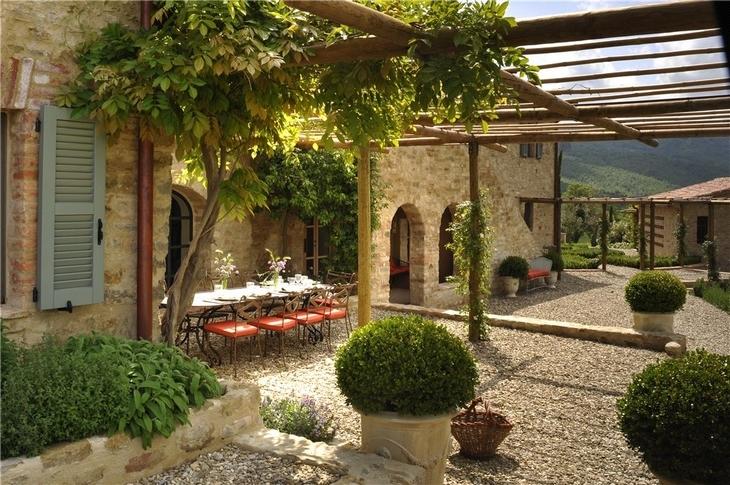 Estilo rustico los mejores patios rusticos Rustic tuscan house plans
