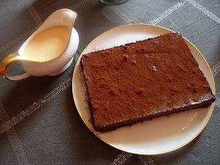 bonne marquise au chocolat, crème anglaise faite maison, recettes cuisine