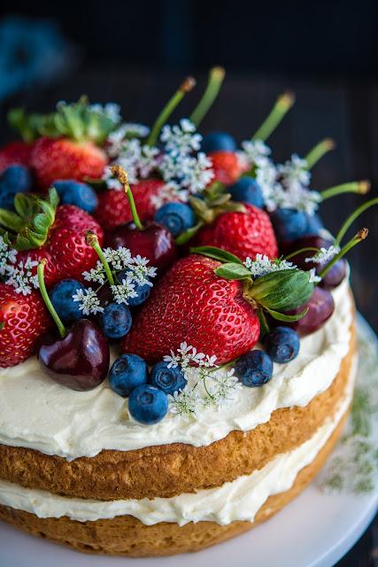 Bit Lighter Cherries and Berries Cake