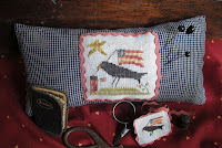 Crow Patriotic Stitching Necessaires - $7.50