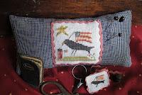 Crow Patriotic Stitching Necessaires - $7.50