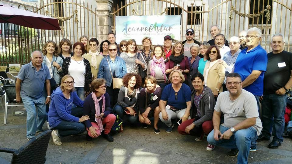 Encuentro de acuarelistas en Cangas de Onis.