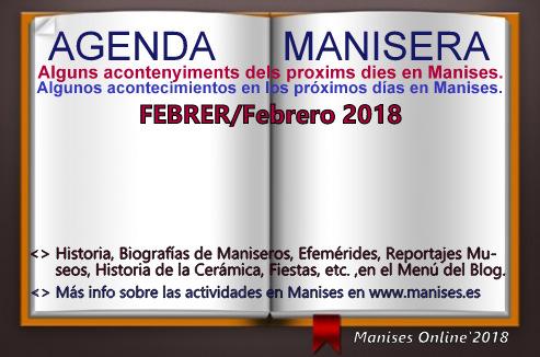 AGENDA MANISERA, FEBRERO 2018